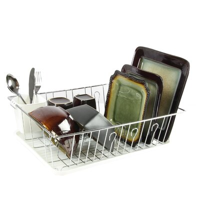 Single Level Dish Rack Finish: Silver/White