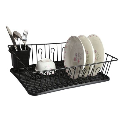 Single Level Dish Rack Finish: Black