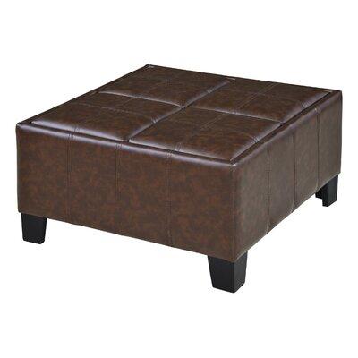 Fairoaks Storage Ottoman Upholstery: Chocolate