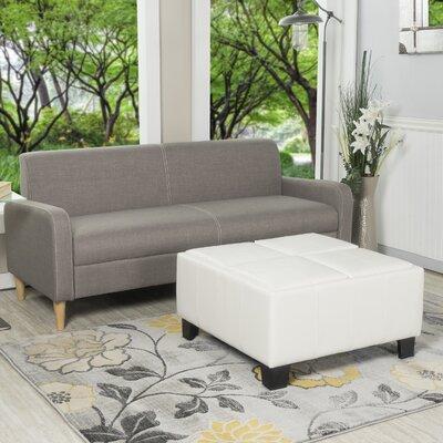 Sanford Storage Ottoman Upholstery: White