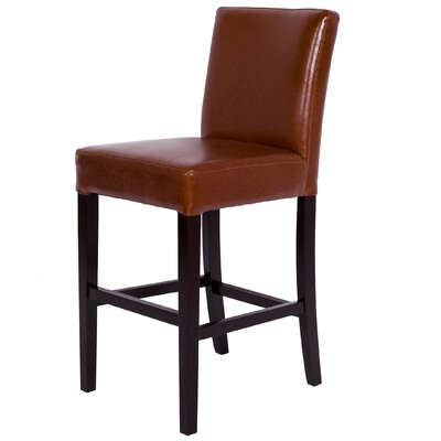 Bar Stool Upholstery: Bonded Leather-Hazelnut