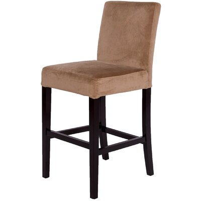 Microfiber Bar Stool with Cushion Upholstery Type - Color: Microfiber - Camel