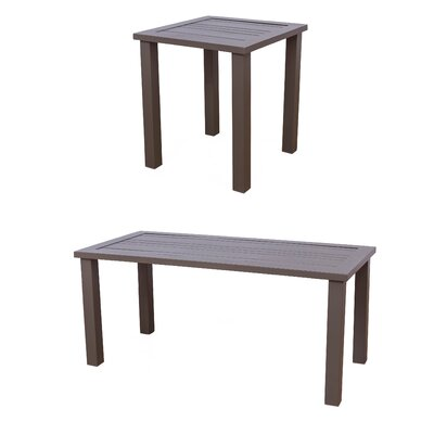 Kauffmann Aluminum 2 Piece Coffee Table Set