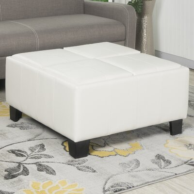 Fairoaks Storage Ottoman Upholstery: White