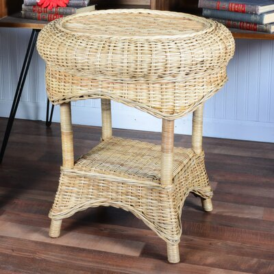 Averi Indoor/Outdoor Rattan Round Side Table