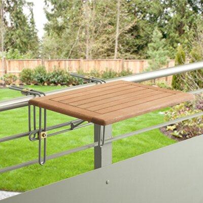 Klappbarer Balkontisch Lobelia   Garten > Balkon > Balkontische   Brown   Metall - Massivholz - Rattan   Lynton Garden