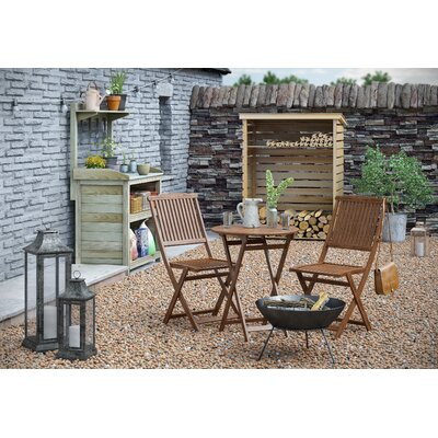 2-Sitzer Balkonset | Garten > Balkon > Balkon-Sets | Naturalbrown | Holz - Rattan - Holzwerkstoff | Lynton Garden
