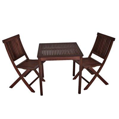 2-Sitzer Balkonset Pineleaf | Garten > Balkon > Balkon-Sets | Naturalbrown | Holz - Massivholz - Rattan | Lynton Garden