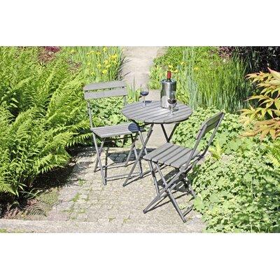 2-Sitzer Balkonset Wilbert | Garten > Balkon > Balkon-Sets | Gray | Stahl - Rattan - Metall - Holzwerkstoff - Lack | Lynton Garden