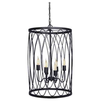 6-Light Drum Pendant Finish: Oil Rubbed Bronze