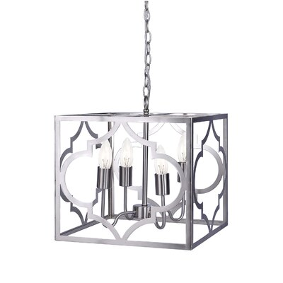 4-Light Foyer Pendant Finish: Brushed Nickel
