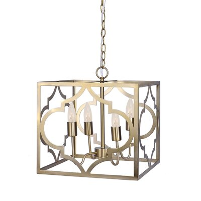 4-Light Foyer Pendant Finish: Gold Plated