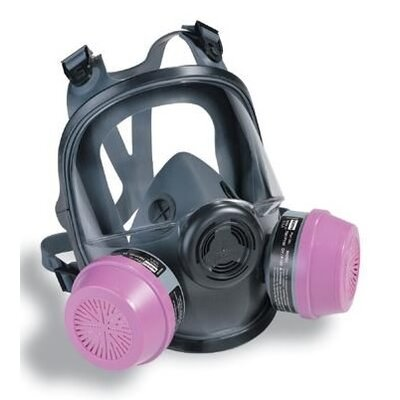 7600 Series Silicone Full Face Mask with Speech Diamphragm 760008A