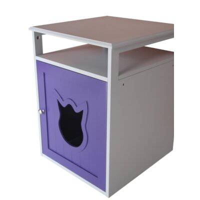 Kitty Cat Litter Box Color: Purple/White