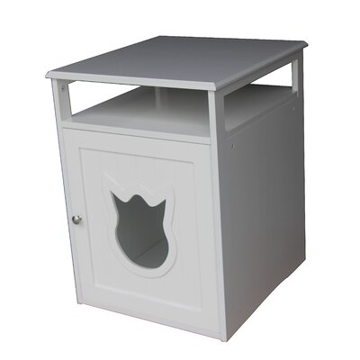 Kitty Cat Litter Box Color: White