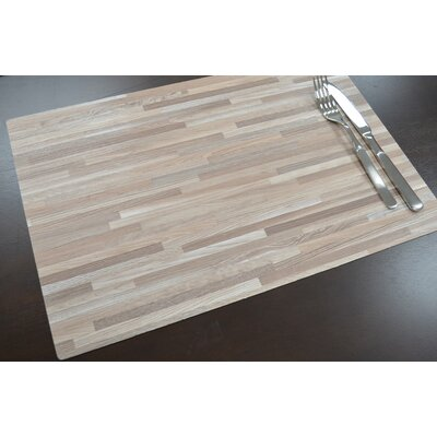 Fetters Rectangular Wood Grain Heavy Vinyl Placemat D45E6C116AAE4DDD9F1AF260E3EFD5BD