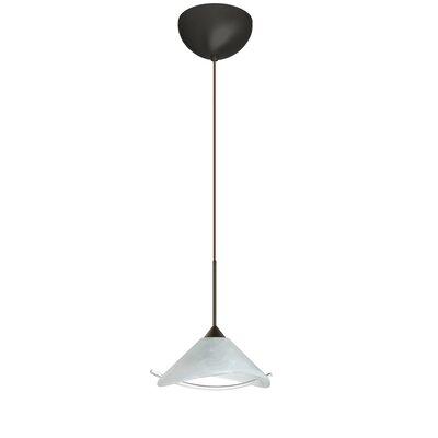 Hoppi 1 Light Mini Pendant Finish: Bronze, Glass Shade: Marble/Clear, Bulb Type: Incandescent