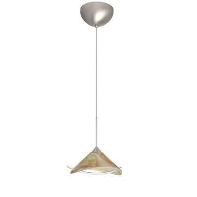 Hoppi 1 Light Mini Pendant Finish: Satin Nickel, Glass Shade: Mocha/Clear, Bulb Type: Incandescent