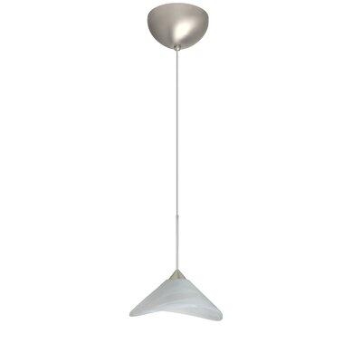 Hoppi 1 Light Mini Pendant Finish: Satin Nickel, Glass Shade: Marble, Bulb Type: LED