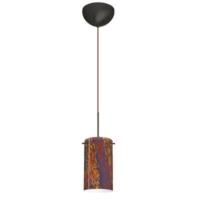 Stilo 1 Light Mini Pendant Finish: Bronze, Glass Shade: Ceylon, Bulb Type: Incandescent