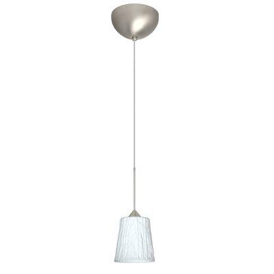 Nico 1 Light Mini Pendant Finish: Satin Nickel, Glass Shade: Opal Stone, Bulb Type: LED