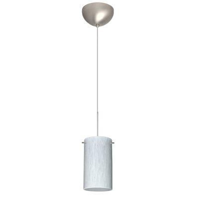 Stilo 1 Light Mini Pendant Finish: Satin Nickel, Glass Shade: Carrera, Bulb Type: Incandescent