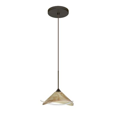 Hoppi 1 LED Integrated Bulb Mini Pendant Finish: Bronze, Bulb Type: Halogen