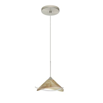 Hoppi 1 Integrated Bulb Mini Pendant Finish: Satin Nickel, Bulb Type: LED