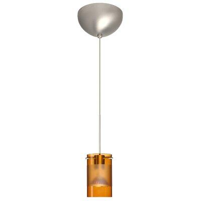 Scope 1 Light Mini Pendant Finish: Satin Nickel, Glass Shade: Armagnac/Frost, Bulb Type: LED