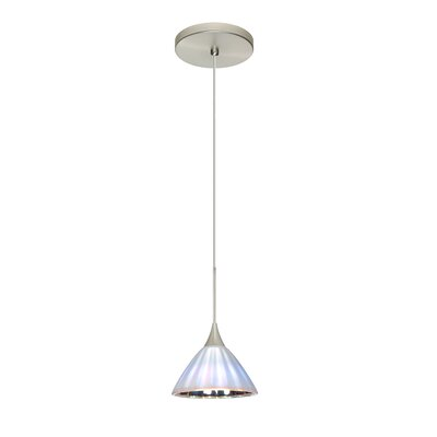 Domi 1 LED Integrated Bulb Mini Pendant Bulb Type: LED, Finish: Satin Nickel
