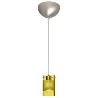Scope 1 Light Mini Pendant Finish: Satin Nickel, Glass Shade: Olive/Frost, Bulb Type: LED