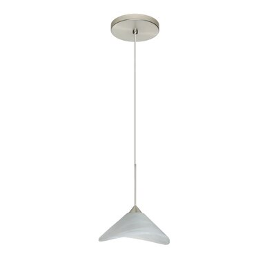 Hoppi 1 LED Integrated Bulb Mini Pendant Bulb Type: LED, Finish: Satin Nickel
