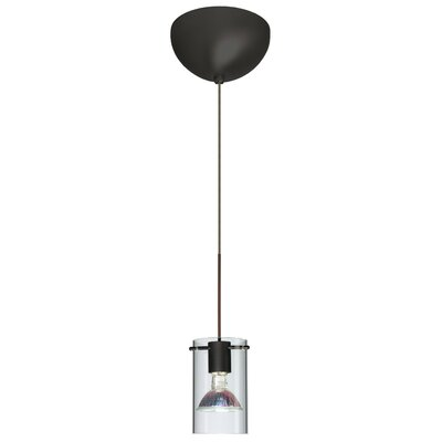 Scope 1 Light Mini Pendant Finish: Satin Nickel, Glass Shade: Armagnac/Frost, Bulb Type: Incandescent