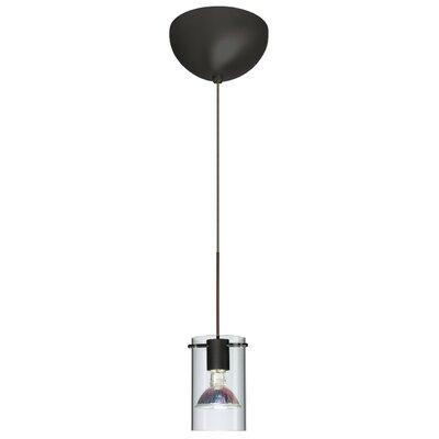 Scope 1 Light Mini Pendant Finish: Satin Nickel, Glass Shade: Olive/Frost, Bulb Type: Incandescent
