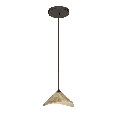Hoppi 1 LED Integrated Bulb Mini Pendant Finish: Bronze, Bulb Type: LED