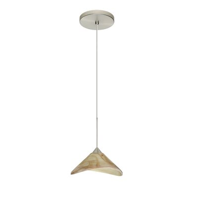Hoppi 1 Integrated Bulb Mini Pendant Finish: Satin Nickel, Bulb Type: Halogen