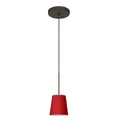 Canto 1 LED Integrated Bulb Mini Pendant Finish: Bronze, Bulb Type: LED, Shade Color: Red Matte