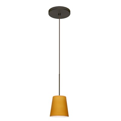 Canto 1 LED Integrated Bulb Mini Pendant Finish: Bronze, Bulb Type: LED, Shade Color: Amber Matte