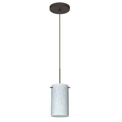 Stilo 1 LED Integrated Bulb Mini Pendant Bulb Type: Halogen, Finish: Bronze