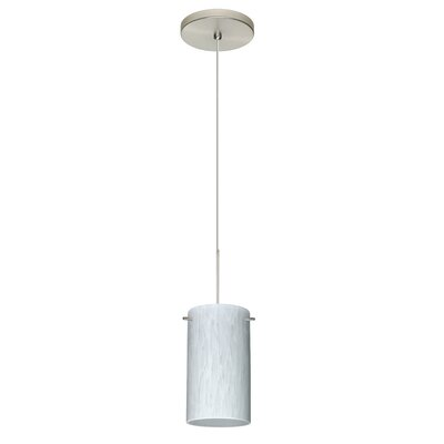 Stilo 1 Integrated Bulb Mini Pendant Finish: Satin Nickel, Bulb Type: Halogen