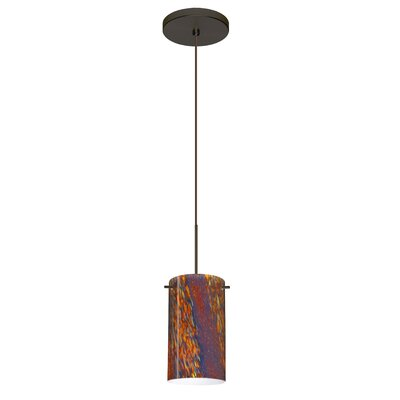 Stilo 1 Integrated Bulb Mini Pendant Finish: Bronze, Bulb Type: LED