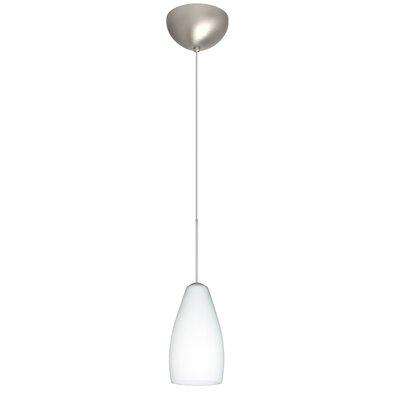 Karli 1 Light Mini Pendant Finish: Satin Nickel, Glass Shade: Opal Matte, Bulb Type: LED