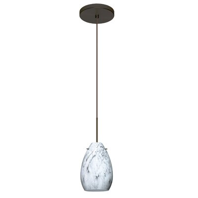Pera 1 Integrated Bulb Mini Pendant Finish: Bronze, Bulb Type: LED