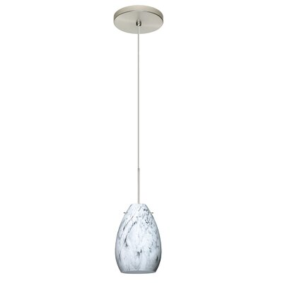 Pera 1 Integrated Bulb Mini Pendant Finish: Satin Nickel, Bulb Type: LED