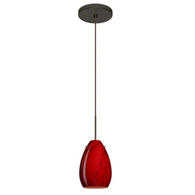 Pera 1-Light Mini Pendant Finish: Bronze, Bulb Type: Halogen