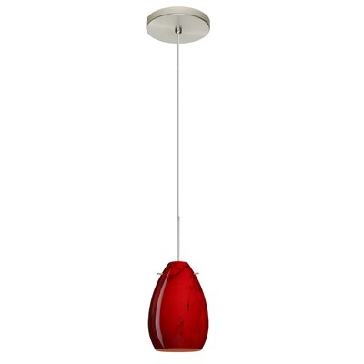 Pera 1-Light Mini Pendant Finish: Satin Nickel, Bulb Type: Halogen