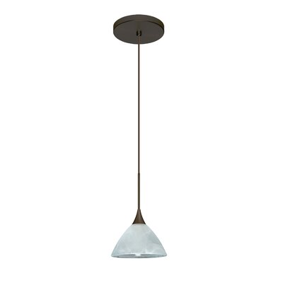 Domi 1 Integrated Bulb Mini Pendant Finish: Bronze, Bulb Type: LED