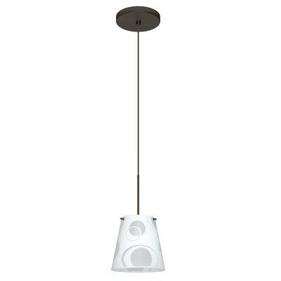 Amelia 1 LED Integrated Bulb Mini Pendant Finish: Bronze, Bulb Type: LED