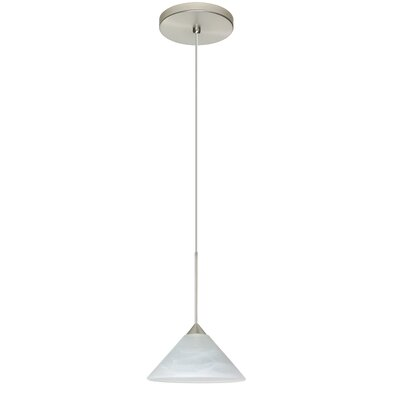 Kona 1 Integrated Bulb Mini Pendant Finish: Satin Nickel, Bulb Type: LED