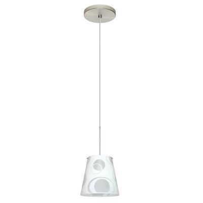 Amelia 1 LED Integrated Bulb Mini Pendant Bulb Type: Halogen, Finish: Satin Nickel